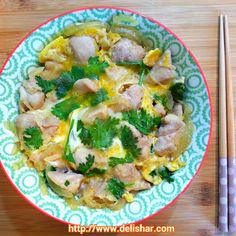 DELISHAR: Singapore Cooking & Food Blog: Oyakodon (Chicken and Egg Rice Bowl)