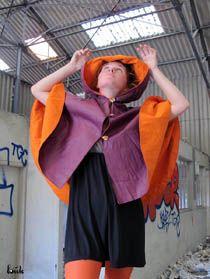 louk-cape-impermeable-lin-enduit-prune-orange
