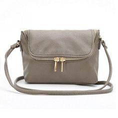 f8a544912d948c Fashion Women Small Fold Over Bag Mini Women Messenger bags Leather  Crossbody Sling Shoulder bags Handbags Purses Zipper