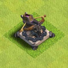 clash of clans X-Bow level 1 Clash Of Clans App, Coc Clash Of Clans, Clan Castle, Castle Clash, Clash Of Clash, Boom Beach, Wicked Game, Game Concept Art, Clash Royale