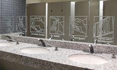 graphics on the bathroom mirror Building Signs, Bathroom Mirror, Design Awards, Corporate Interiors, Home Decor, Mirror Vinyl, Mirror, Room Decor, Signage