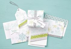 Endless Wishes is such a versatile stamp set. The hand drawn snowflakes and handwritten sentiments are so fun to mix and match.