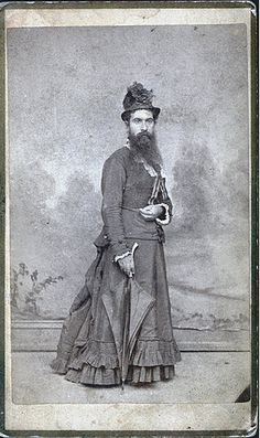 another bearded lady or cross-dressing Victorian gent - there seems to have been a lot of it around.