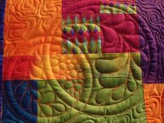 "intriguing! Class sample ""Quilting Inside the Box""  by Judy Woodworth"