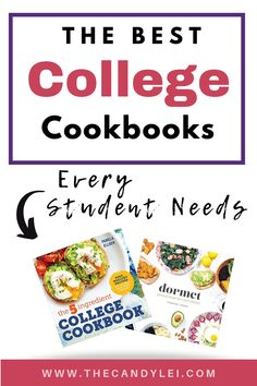 Cook healthy meals throughout college with these thoughtful college cookbooks. Whether you're cooking in a crowded dorm or slightly more spacious apartment, with these cookbooks you'll be mixing up delicious meals in no time. Healthy Dorm Eating, Clean Eating Desserts, Healthy Meals To Cook, Nutritious Meals, No Cook Meals, Healthy Cooking, Healthy Recipes, Healthy Breakfasts, College Meal Planning