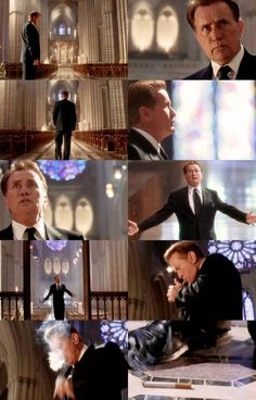 Pres. Bartlet yelling at God in Latin. The only time I will excuse someone for smoking in National Cathedral.