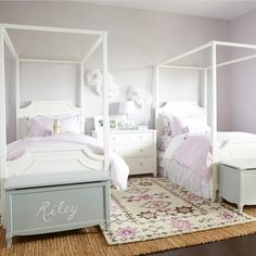 We worked with to create a gorgeous and calming shared room for her daughters. Click the link in our bio to see all the beautiful pics! Twin Girl Bedrooms, Sister Bedroom, Shared Bedrooms, Girls Bedroom, Twin Bedroom Ideas, Twin Girls, Shared Room Girls, Rooms For Teenage Girl, Bedroom Decorating Tips
