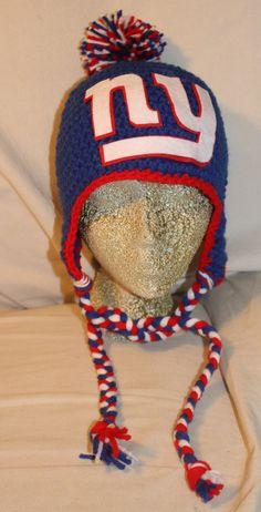 NY Giants Logo Hat Baby Thru Adult Sizes by KSKnits48 on Etsy Baby Hats 92cdb3fc2d30