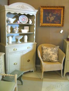 Vintage Mahogany Cupboard painted with Annie Sloan Chalk Paint® in Country Grey.