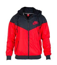 7ddcb6efa596 NIKE Windbreaker jacket Long sleeves Adjustable drawstring on hood Full zip  closure NIKE and swoosh . True to size
