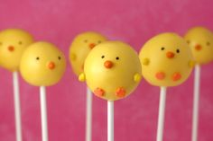 Easter Chicks Cake Pops