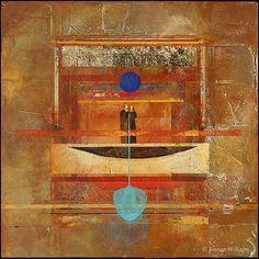 The Blue Oar by Joanne Williams (abstract art)