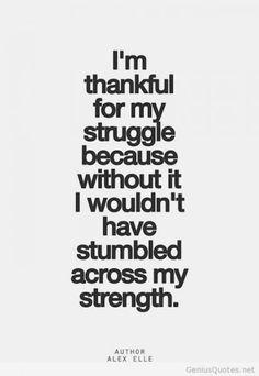 Stumble across your strength...