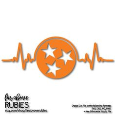 State of Tennessee TN Heartbeat EKG Tristar Star - SVG, eps, dxf, png, jpg digital cut file for Silhouette or Cricut State Of Tennessee, University Of Tennessee, Tennessee Volunteers, Free Silhouette, Silhouette Design, Silhouette Studio, Monogram T Shirts, Vinyl Shirts, Tn Football