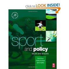 Price: $53.95 - Sport and Policy (Sport Management) - TO ORDER, CLICK THE PHOTO