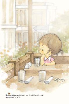 插畫家Ato Recover:有時 有人掛心著你,只是你沒有察覺到。來源http://www.facebook.com/123ato