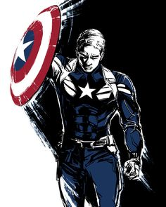 Captain America Steve Rogers Canvas Marvel Print T-Shirt Souvenirs Accessories A Marvel Comics – Marvel Univerce Characters image ideas tips Marvel Comics, Marvel Fanart, Bd Comics, Marvel Heroes, Captain Marvel, Steve Rogers, Captain America Art, Captain America Wallpaper, Captain America Drawing