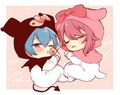 Fuwa Fuwa, Super Hero Life, Cute Anime Chibi, Macrame Design, Anime Artwork, Furry Art, Sanrio, Vocaloid, Cute Couples