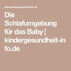 Die Schlafumgebung für das Baby   kindergesundheit-info.de