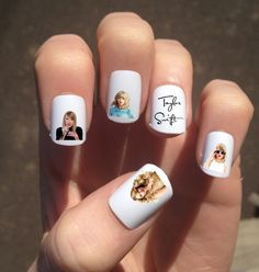 A set of nail decals. 19 Perfect Gifts Every Taylor Swift Fan Needs In Their Life Taylor Swift Nails, All About Taylor Swift, Taylor Swift Concert, Taylor Swift Fan, Taylor Alison Swift, Taylor Swift Birthday, Taylor Taylor, Nail Art Sticker, Nail Decals
