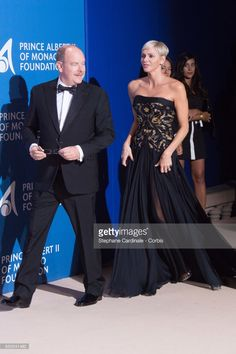 Prince Albert II of Monaco and Princess Charlene of Monaco attend the Inaugural 'Monte-Carlo Gala For The Global Ocean' Honoring Leonardo DiCaprio at The Monaco Garnier Opera on September 28, 2017 in Monaco, Monaco.