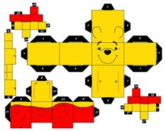 Printable Winnie The Pooh Cube Craft Winnie The Pooh Thanksgiving