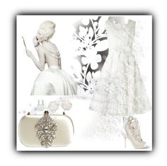 """""""Silver and white"""" by lilian-n1113 ❤ liked on Polyvore featuring Élitis, Phase Eight, Chanel, Nails Inc., Sophia Webster and Badgley Mischka"""