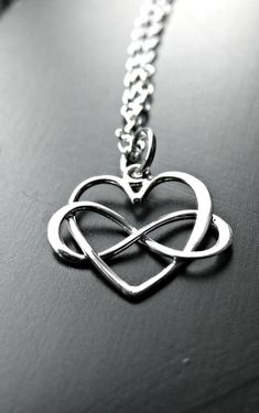 Sterling Silver Infinity Heart Necklace by yourcharmedlife Infinity Heart, Infinity Necklace, Circle Necklace, Silver Necklaces, Silver Earrings, Silver Jewelry, Jewelry Necklaces, Silver Ring, Heart Jewelry