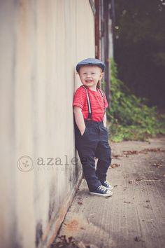 Azalee Photography » urban photo shoot, vintage shoot, little boy, 2 year old photos, downtown Columbia sc, redhead