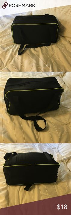 """💥New Forever 21 overnight/gym bag Brand new, black and lime green trim, measurements are 23""""10""""9..strap drop is 17 inches Forever 21 Bags Totes"""
