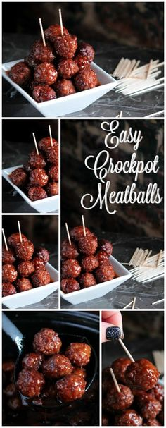 Big Bear's Wife: BBQ and Grape Jelly Crockpot Meatballs