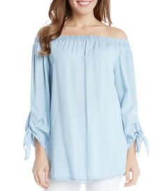 Shop for Karen Kane Off-the-Shoulder Long Sleeve Solid Blouse at Dillards.com. Visit Dillards.com to find clothing, accessories, shoes, cosmetics & more. The Style of Your Life.