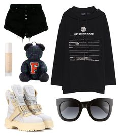 """black n white"" by sashalisnevsky ❤ liked on Polyvore featuring Puma, Nobody Denim, Gucci, contestentry and polyPresents"