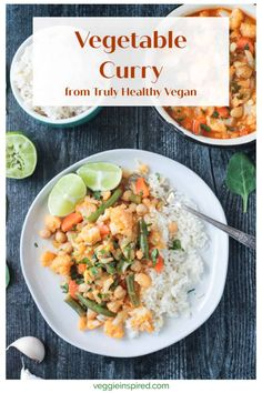 Vegetable Curry - a flavorful red curry easily customized to use up any veggies you have hanging out in the back of your fridge. Ready in just 20 minutes! Serve it up with rice, noodles, or naan. Vegetable Curry, Vegetable Recipes, Vegan Dishes, Curry Dishes, Vegan Food, Healthy Food, Yellow Curry Recipe, Rice Noodles, Veggie Noodles