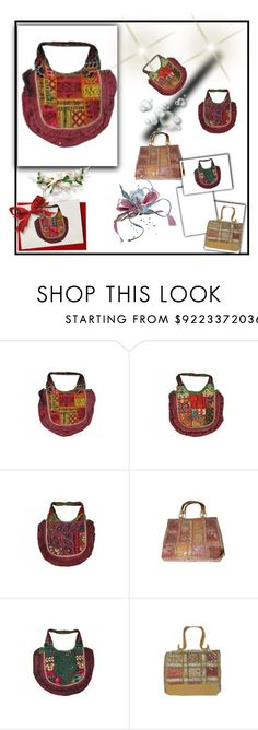 """""""Boho Chic Patchwork Handbag"""" by era-chandok ❤ liked on Polyvore featuring vintage"""