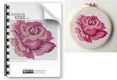 patró rosa amb punt de creu / patrón rosa punto de cruz / pattern cross stitch rose
