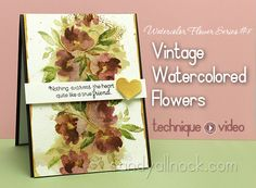 Sandy Allnock Watercolor Flower Series 8