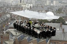 The Floating Restaurant in The Sky! Brussels, Belgium #wow #placestoeat #omg