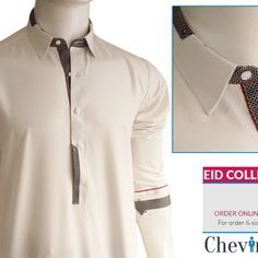 Chevin Shirley Eid Men Kurta Shalwar are trendy and stylish shalwar kameez for this festive occasion check out all the new designs launched by brand. Designer Salwar Kameez, Shalwar Kameez Pakistani, Mens Kurta Designs, Latest Kurta Designs, Kurta Pajama Men, Kurta Men, Mens Designer Shirts, Designer Clothes For Men, Men Clothes