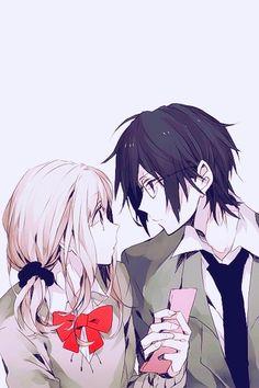 Cute Anime Couple With Neko Hats