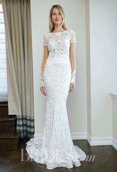 Sheath Wedding Dress : A lace BERTA wedding dress   Brides.com