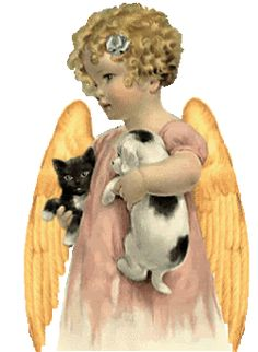 Angel Of The Animals,Animated - angels Photo (altered Bessie Pease Gutmann illustration)