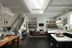 South Shore Decorating Blog: Manhattan Loft Living in Soho and Tribeca  Inspiration for Dex's house