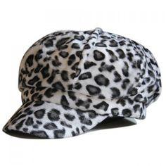 Chic Leopard Pattern Women's Downy Newsboy Cap #men, #hats, #watches, #belts, #fashion