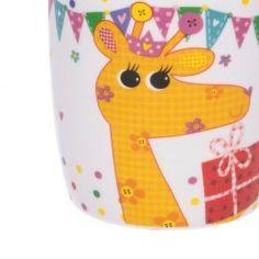 Kubek Party Yellow Giraffe 350ml - Dekoria.pl