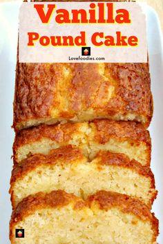 Vanilla Pound Cake Recipe, Homemade Pound Cake, Easy Pound Cake, Pound Cake Recipes, Easy Cake Recipes, Homemade Cakes, Baking Recipes, Homemade Vanilla, Best Moist Pound Cake Recipe Ever