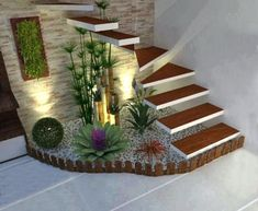 39 Cheap and Easy DIY Garden Ideas Everyone Can Do – sherwooddelapena House Plants Decor, Plant Decor, Interior Garden, Home Interior Design, Interior Stairs, Interior Livingroom, Exterior Design, Home Stairs Design, Inside Garden