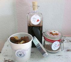 Schokoladensirup, Bounty-Cookie-Ecken und selbstgemachtes Schokoladenpuddingpulver