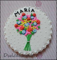 galleta decorada flores