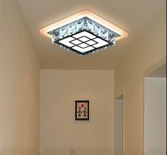 59.99$  Buy here - http://ai585.worlditems.win/all/product.php?id=32787514212 - A1 LED creative ceiling lamps square hall aisle lights balcony crystal lamp entrance